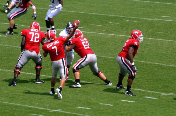 Paulette guessed the UGA guys by their names. It's an intuitive thing. Photo by C. Vogle.