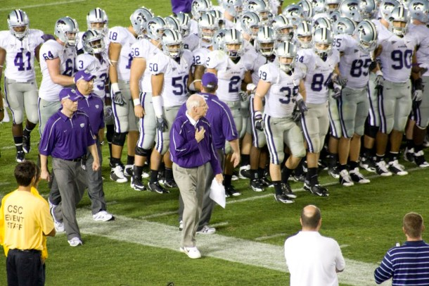 "Bill Snyder has earned the moniker ""The White Wizard"" of college football and RB John Hubert is another one of his small frame, big game minions. Photo by JMR_Photography."