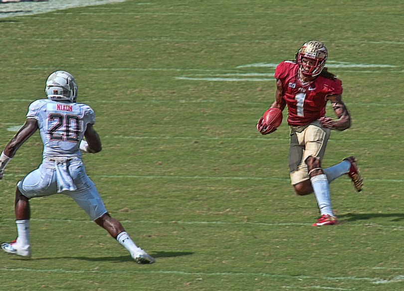 The blur is the rising draft stock many project for Kelvin Benjamin. Find out if I feel he warrants it. Photo by Kathy Vitulano.