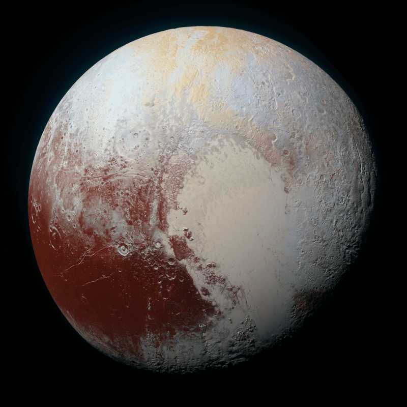 High-Resolution Image of Pluto.