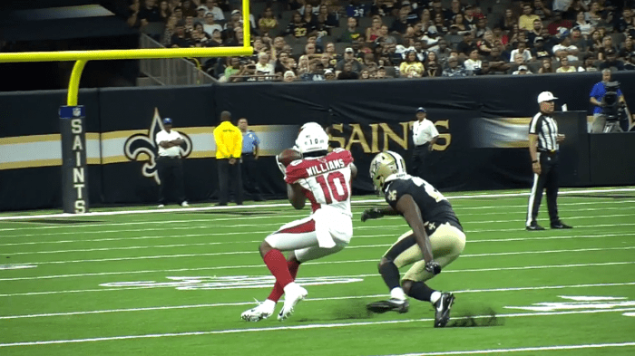 RSP NFL Lens WR Chad Williams (Cardinals): Footwork Through Contact