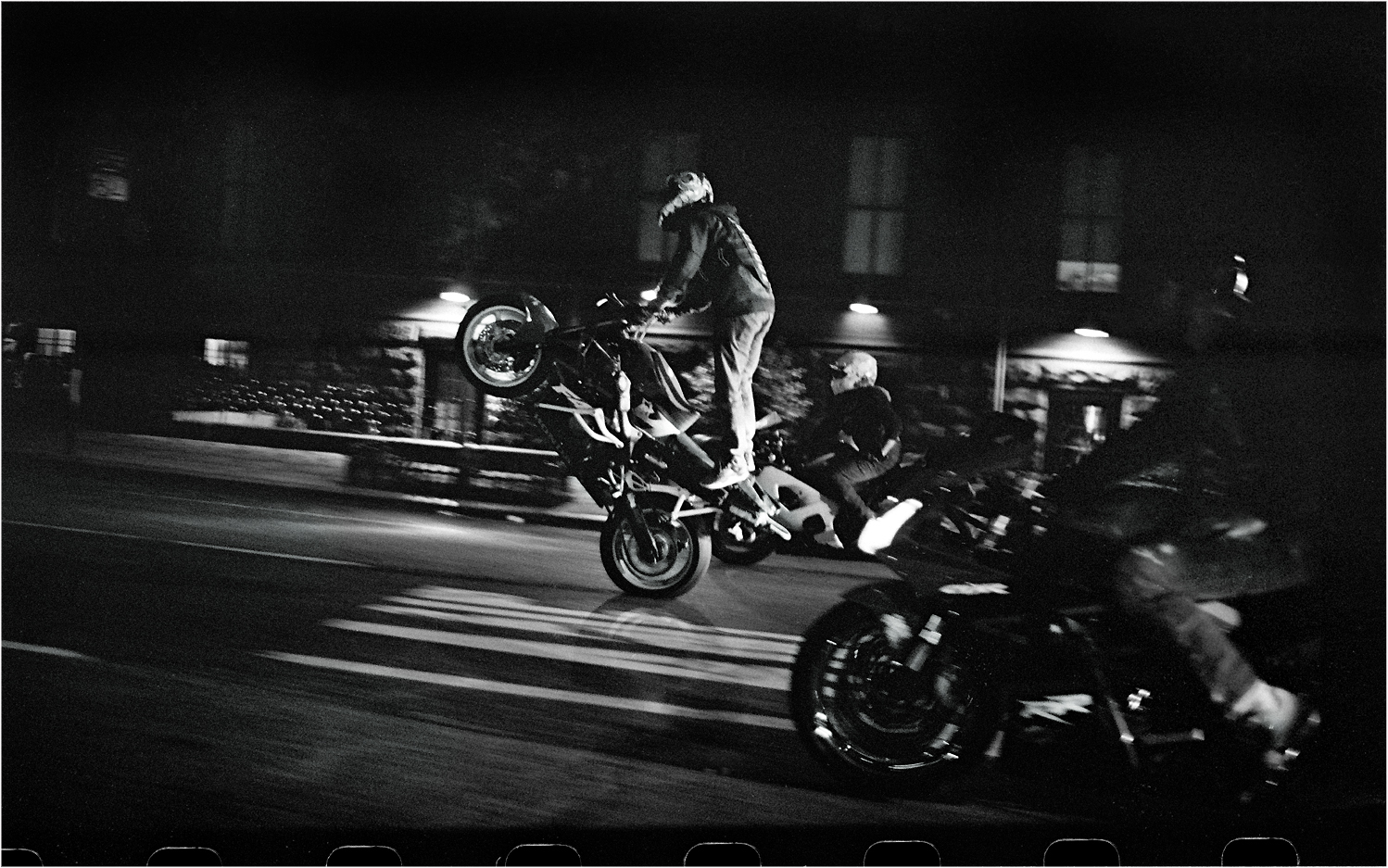 Signs And Quotes Wallpapers Motorcycle Wheelie 2013 Copy Black And White Street