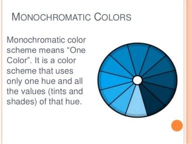 Monochromatic theory
