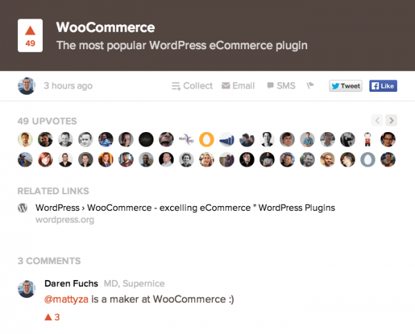 WooCommerce on Product Hunt