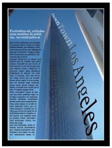 1 Page Magazine Spread