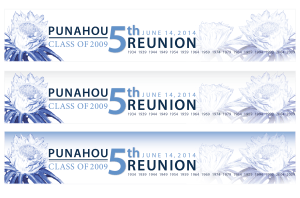 Punahou Reunion Letter Head Concepts