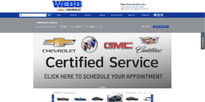 Webb Chevrolet Website (webbchevroletoaklawn.com)