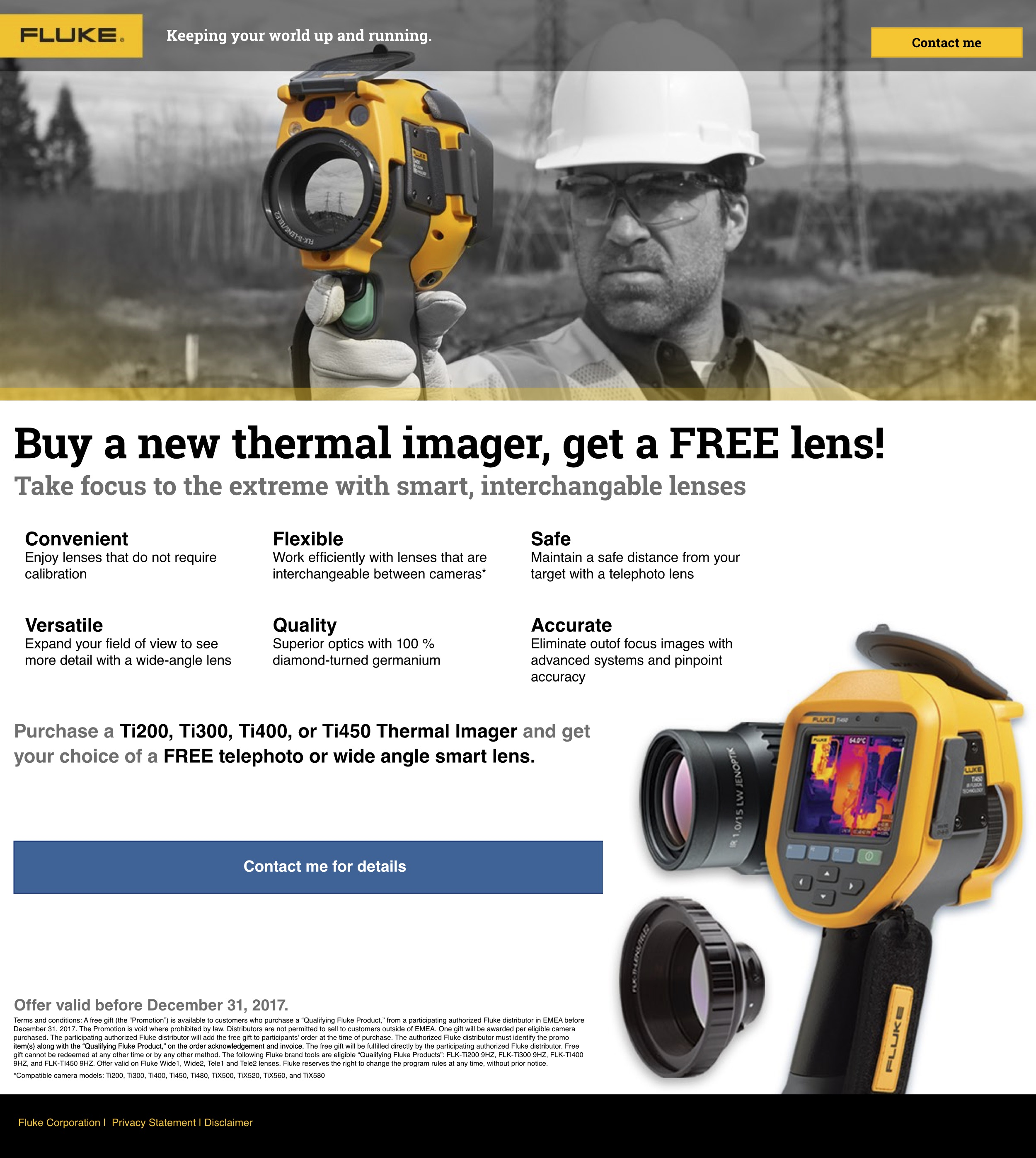 Ti Thermal Imager Lens Promo Landing Page