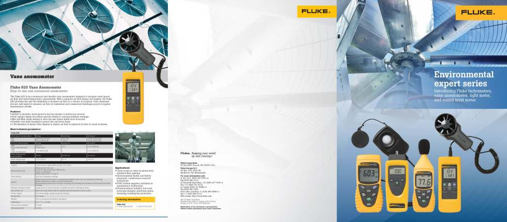 Fluke Environmental Expert Series Brochure