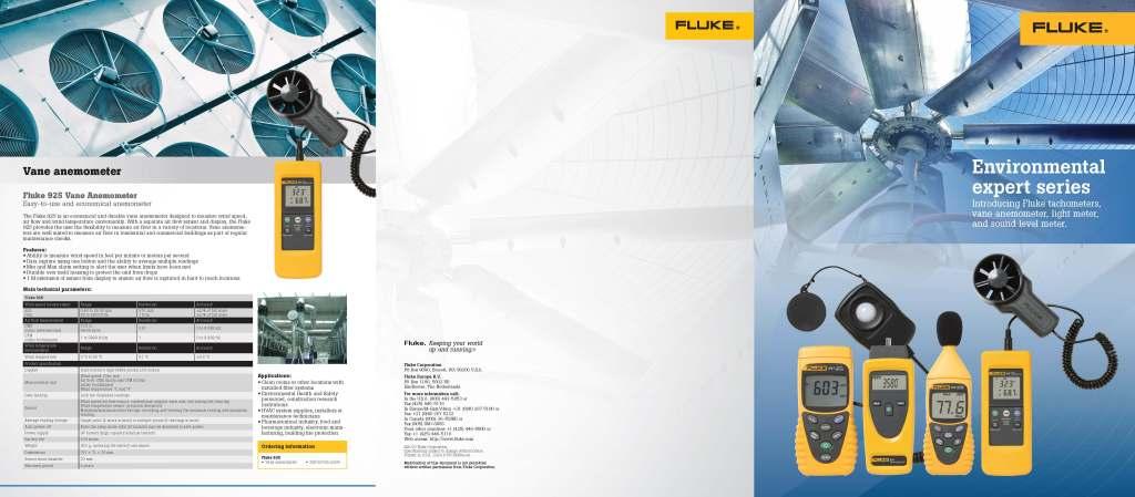 Fluke Environmental Expert Series Brochure