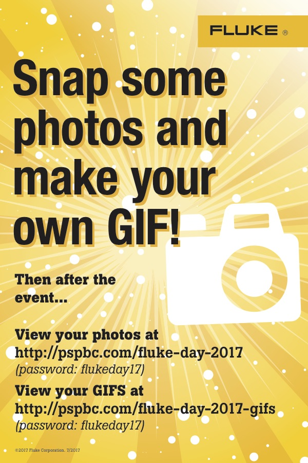 Fluke Day 2017 Photo Booth Cards