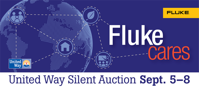 Fluke Cares Silent Auction Banner