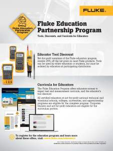 Fluke Education Partnership Program Flyer, Canada