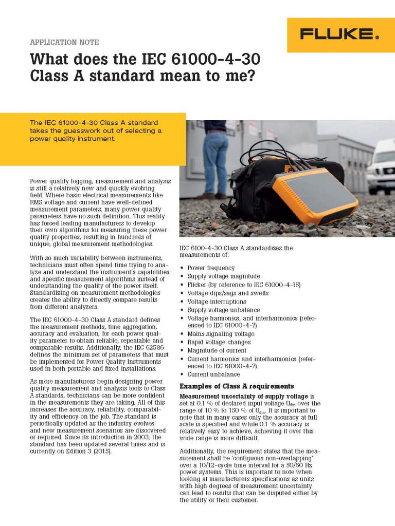 What Class A Compliance Means, Application Note