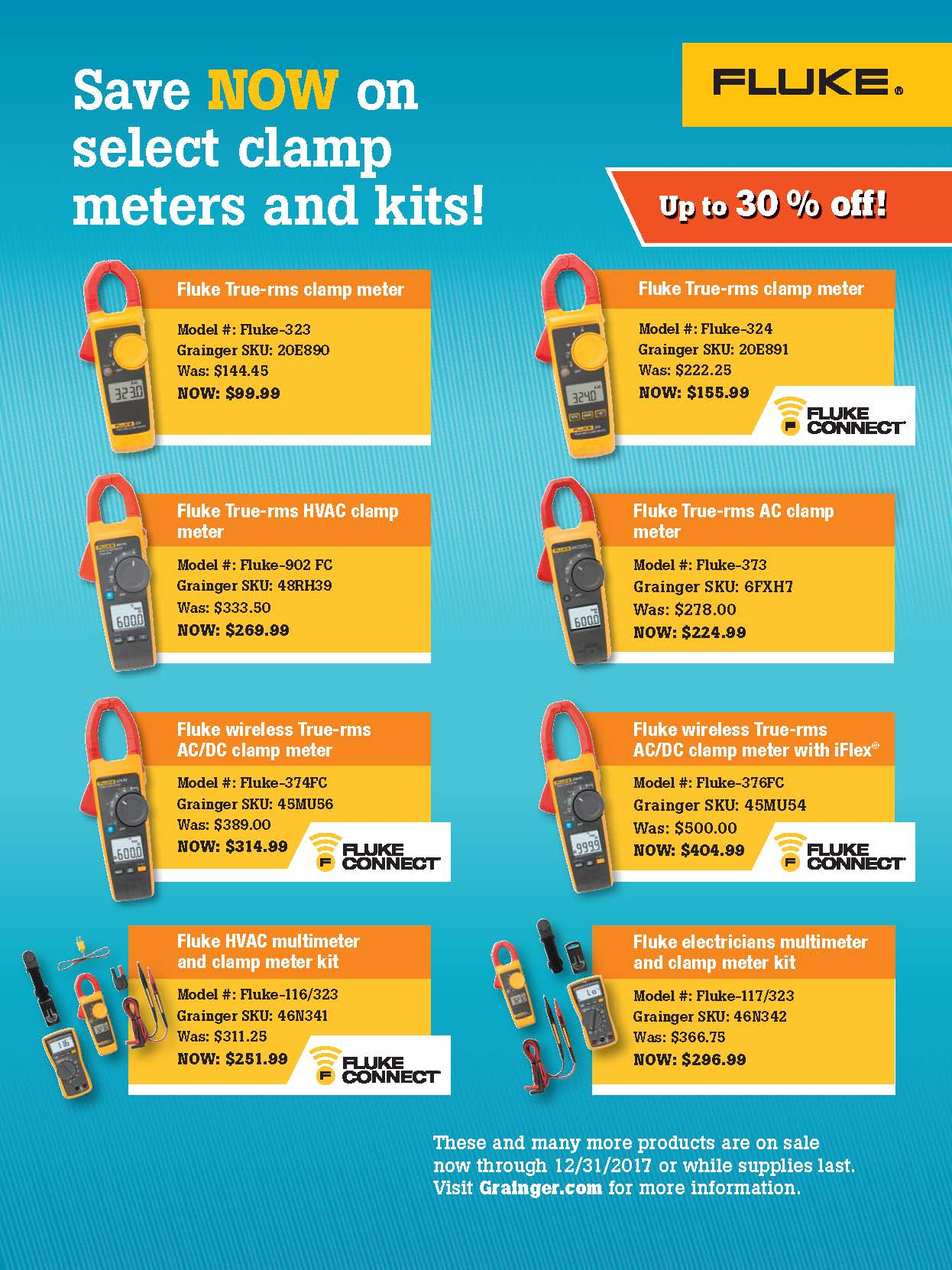 Outfit Your Crew Clamp Meter Flyer, Grainger