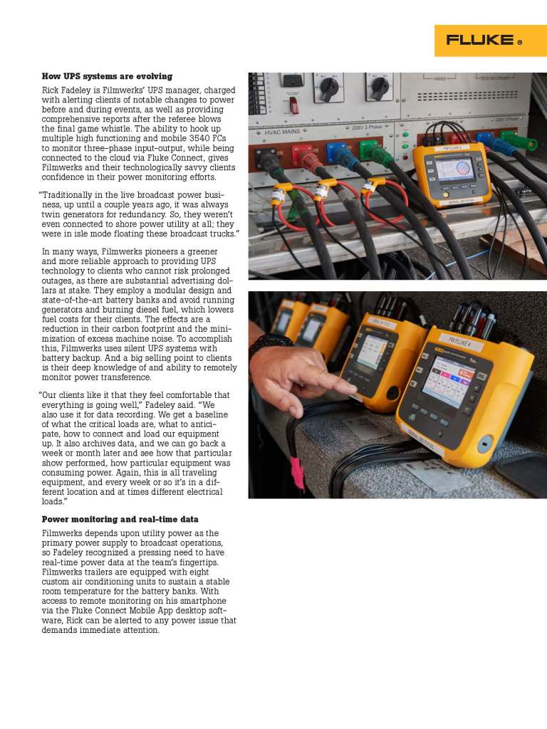 Fluke Power Monitoring, Professional Review