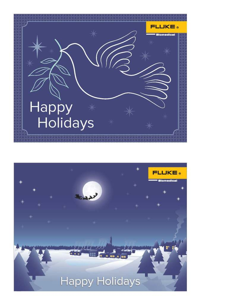 Fluke Biomedical Holiday Card Concepts