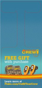 Fluke T3 National Promo, Outfit Your Crew, Store Dangler