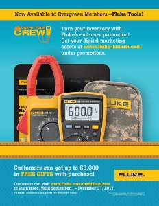 Fluke T3 National Promo, Outfit Your Crew, Full Page Ad
