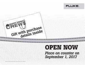 Fluke T3 National Promo, Outfit Your Crew, Kit Envelope