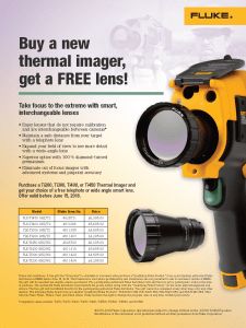 Fluke Thermography Lens Promo Flyer
