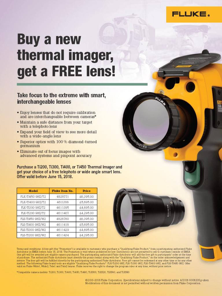 Fluke Thermography Lens Promo Flyer