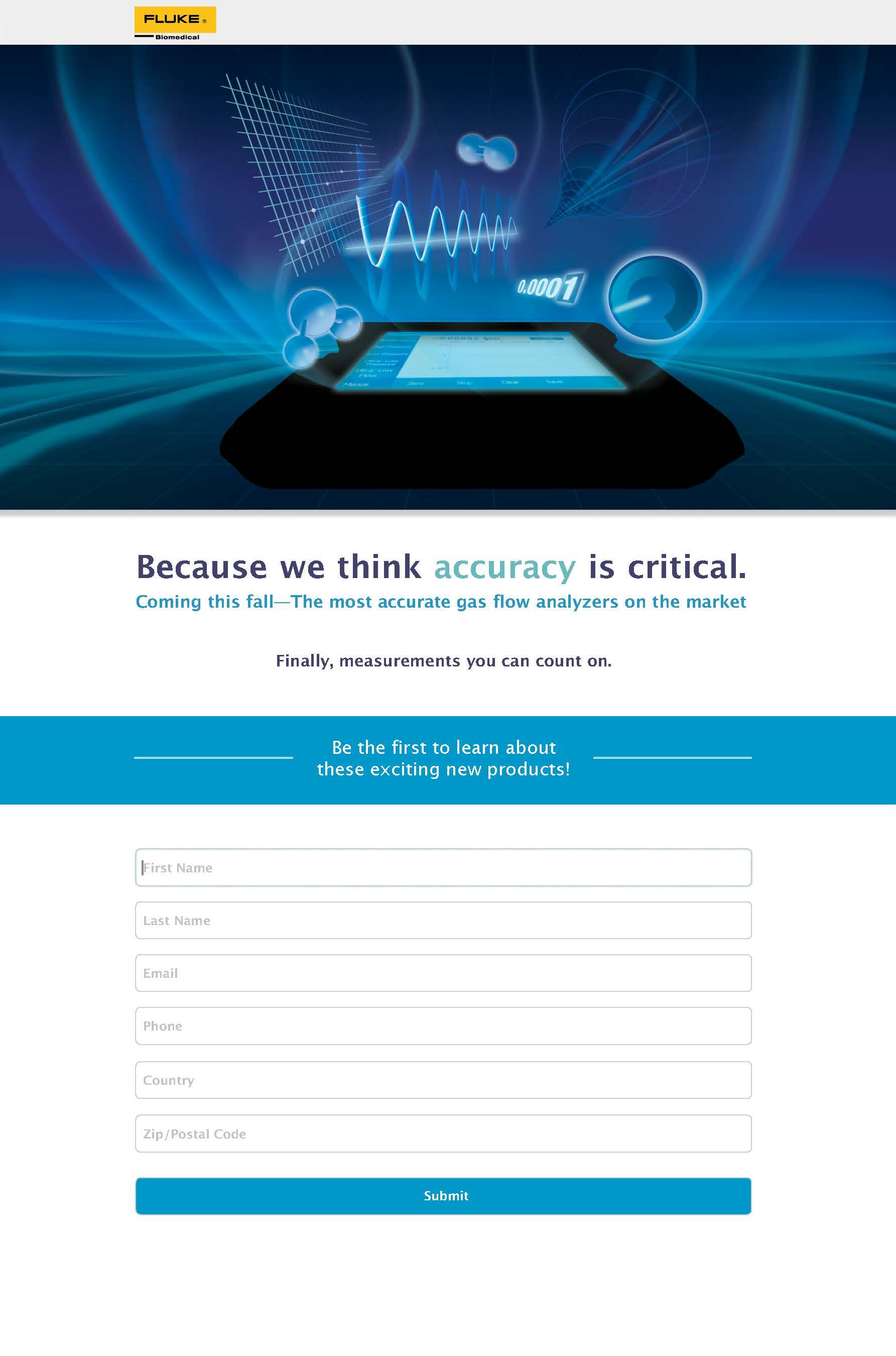 Fluke Biomedical New Product, VT650/VT900 Teaser Web Page