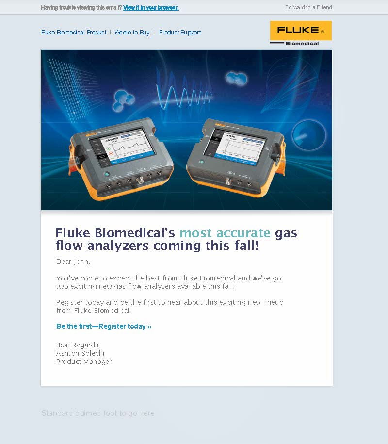 Fluke Biomedical New Product, VT650/VT900 Launch Email