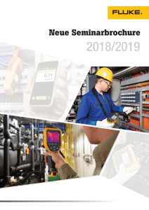 Fluke Germany, New Seminar Brochure Cover