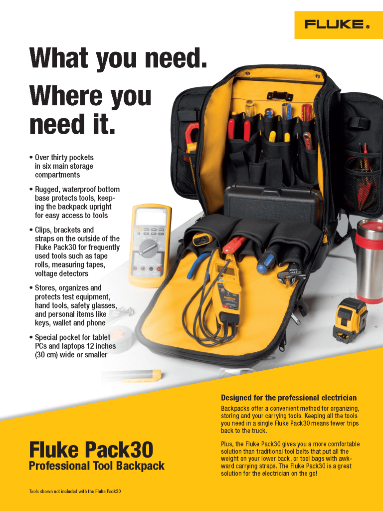 Fluke Pack30 Flyer, Front