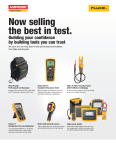 Fluke/Amprobe Tool Channel Product Flyer