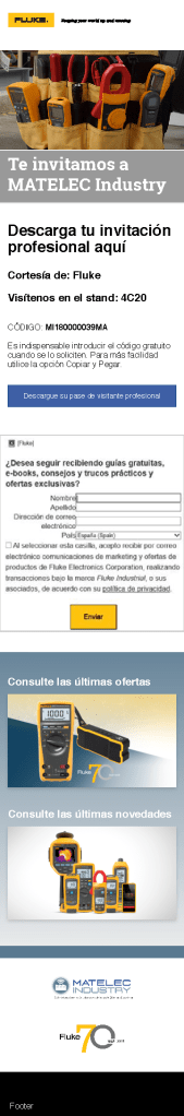 Matelec Spain Web Page, Mobile