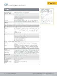 Fluke Biomedical Product Catalog 2018