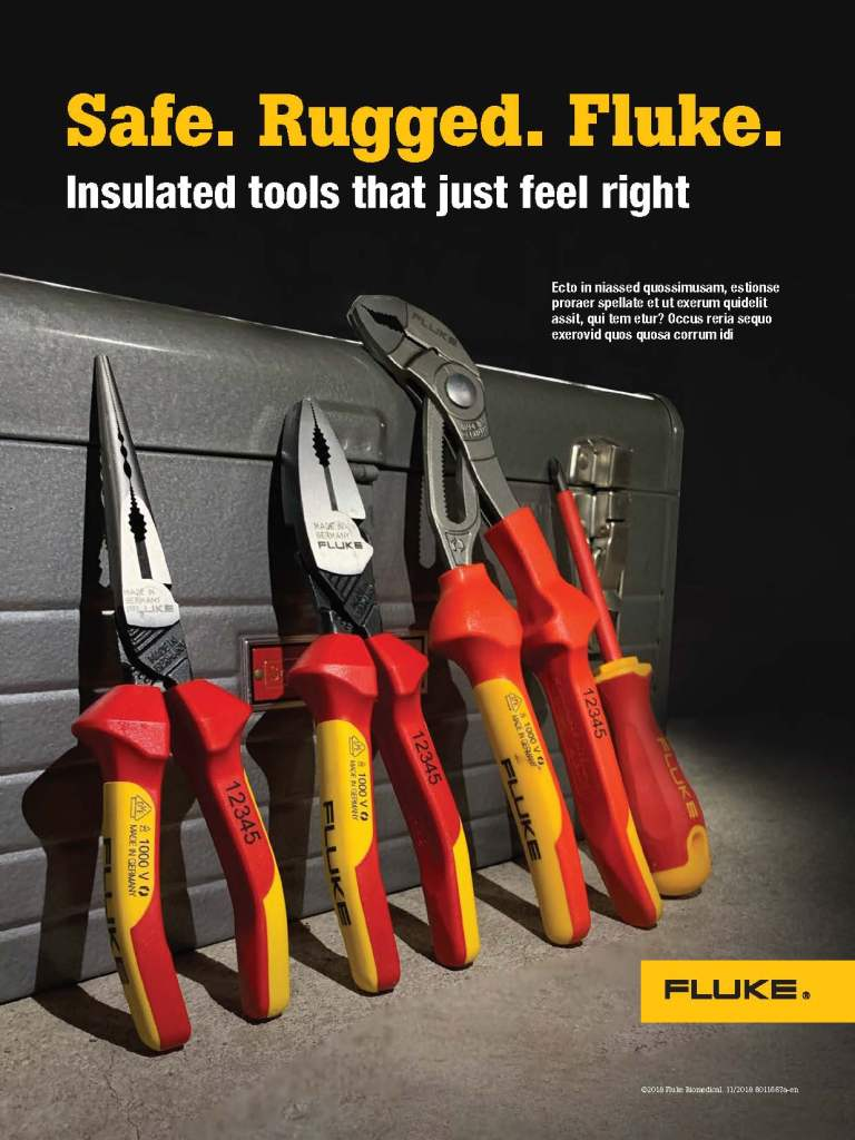 Insulated Hand Tools Campaign Visual Theme Concepts