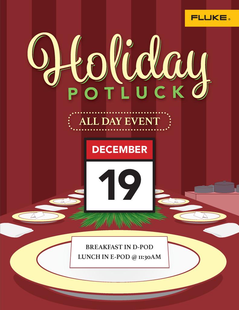 2018 Holiday Potluck Flyer