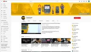 Fluke Europe Youtube Channel Banner and Profile Icon