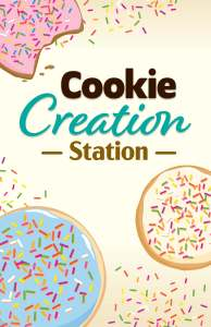Holiday Cookie Creation Station Sign