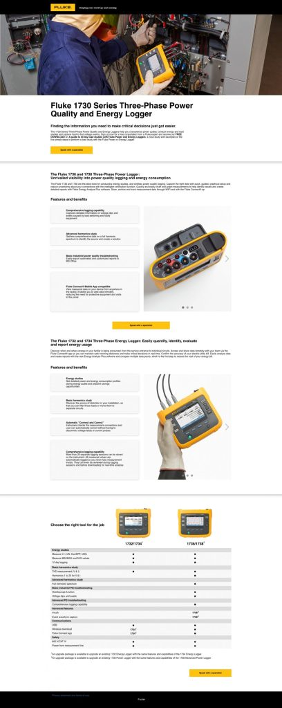 Fluke Power Quality PPC Web Page