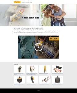 Fluke Safety Campaign 2020 Web Page, Europe