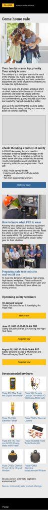 Fluke Safety Campaign 2020 Web Page
