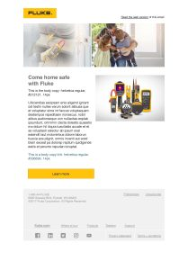 Fluke Safety Campaign 2020 Email