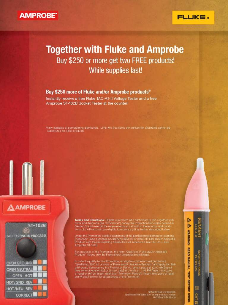 Fluke and Amprobe Plug and Play Promo Flyers