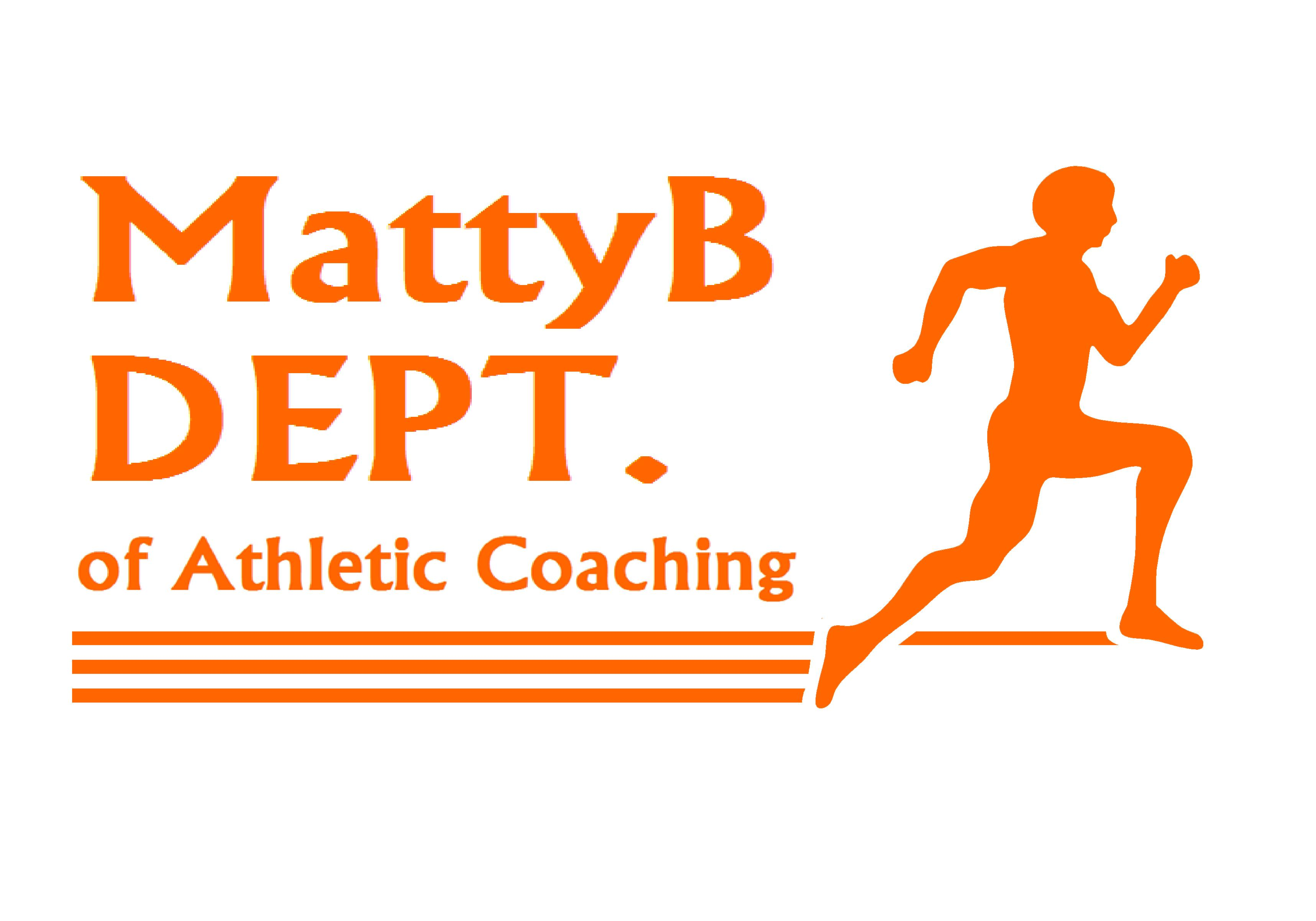 MattyB DEPT. of Ath Coach orange font