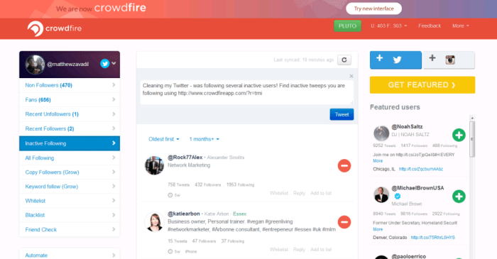 Crowdfire_Interface