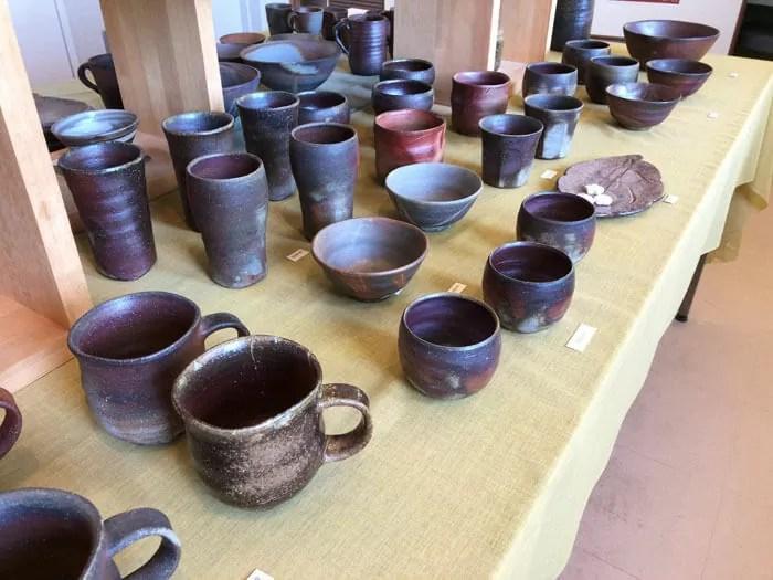 陶芸作家の展示販売品
