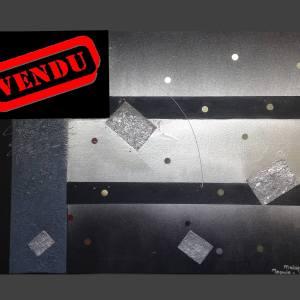 """"""" Disco """"  VENDU  Format H50cm/L70cm"""