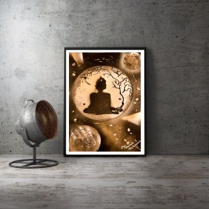 """ Bouddha avec strass "" Disponible , format A3"