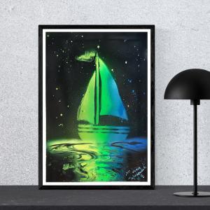 """Poster format A3 """" Prendre les voiles """""""