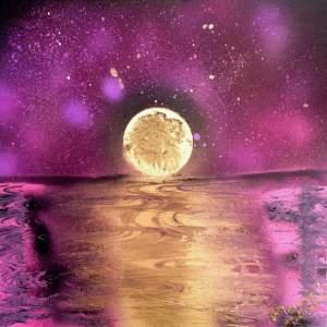 Tableau Pleine lune par Mounia LOUKRISS