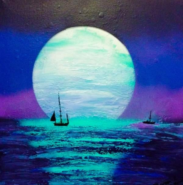 Coucher de Lune par Mounia LOUKRISS